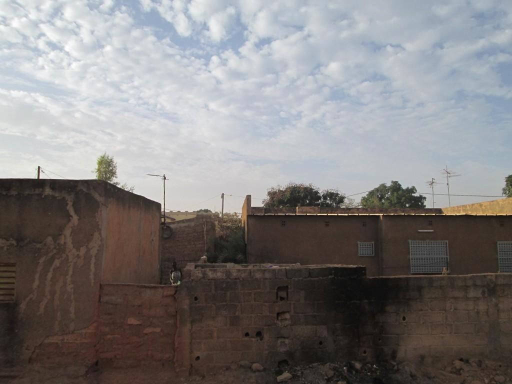 Ciel matinal à Ouaga, quand le temps est nuageux