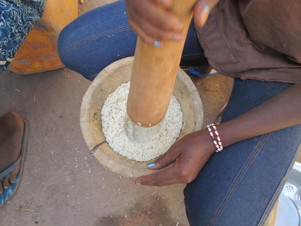 On pile le riz