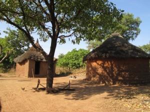 Les cases au village à coté de Loropeni