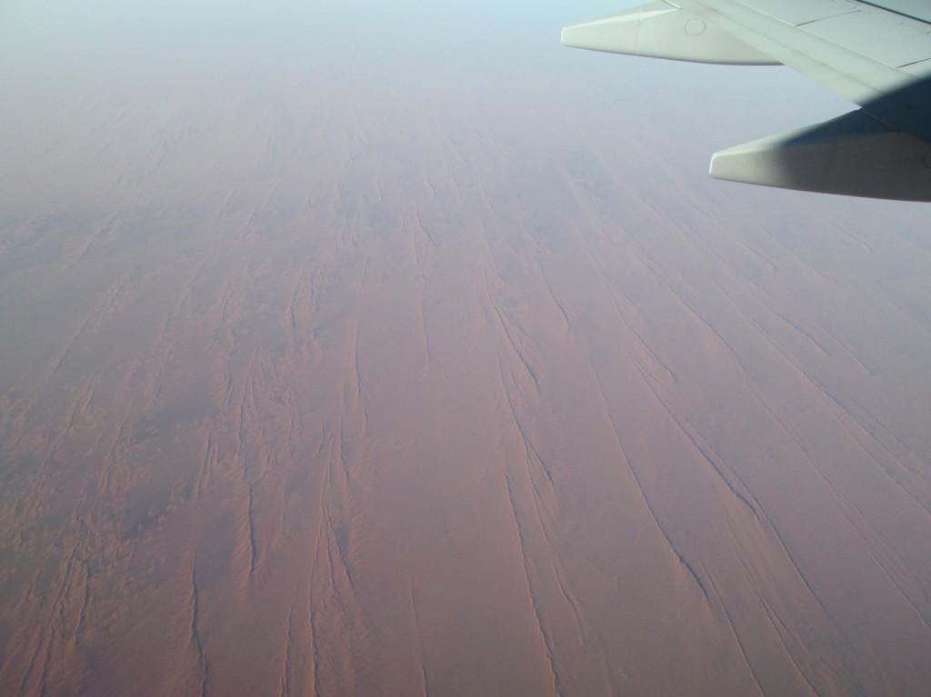 Paysage de dunes rouges