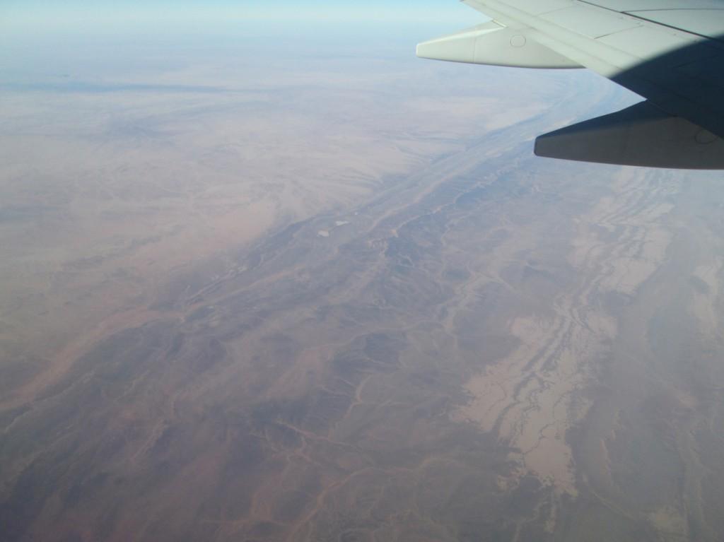 Paysage de montagnes et dunes