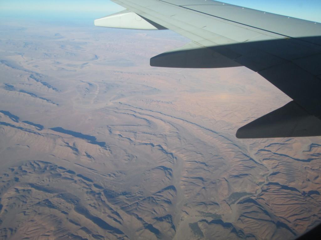 Paysage de montagnes avant le Maroc